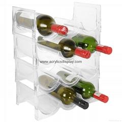 plastic lucite wine racks