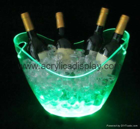 Lucite Acrylic Led Ice Bucket Wine Bucket Led 06 Tw