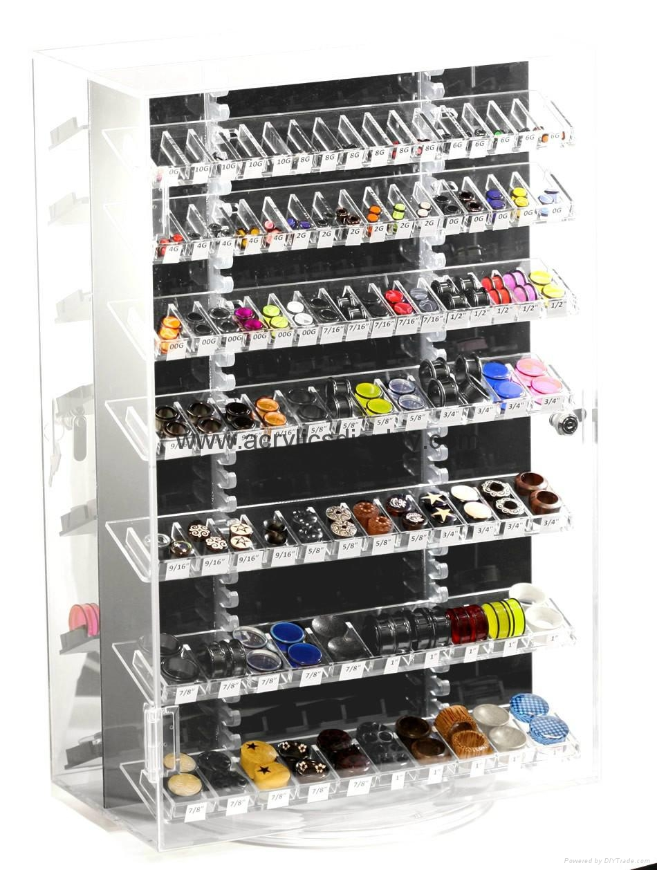 Acrylic Rings Earrings Necklaces Jewelry Organizer Drawer box