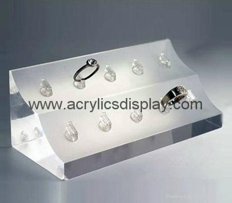 acrylic ring stand ring display ring holder