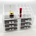 acrylic make up organizer make up case