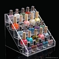 lucite acrylic nail polish shelf case box