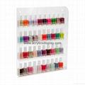 Acrylic wall mounted nail polish rack