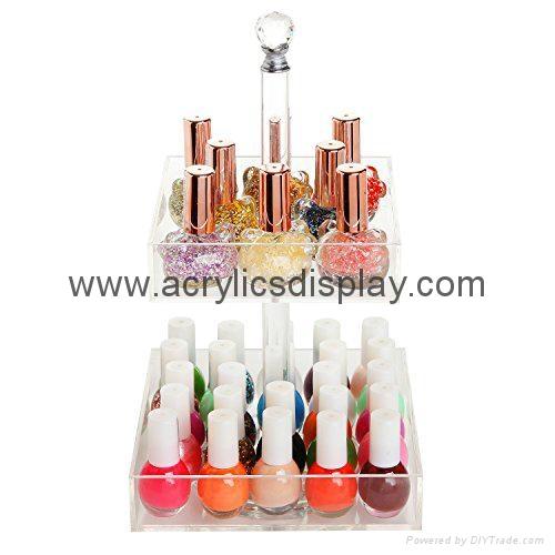 acrylic countertop nail polish rack