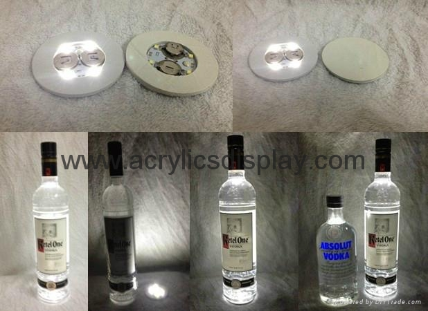 acrylic bottle display stand with light
