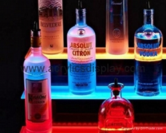 Lucite LED bottle display