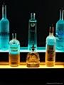 Lucite LED bottle display