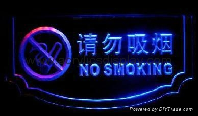 acrylic LED exit sign