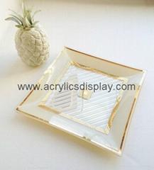 plexiglass acrylic serving tray case