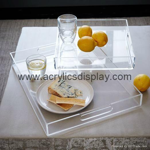 Clear perspex tray plexiglass tray