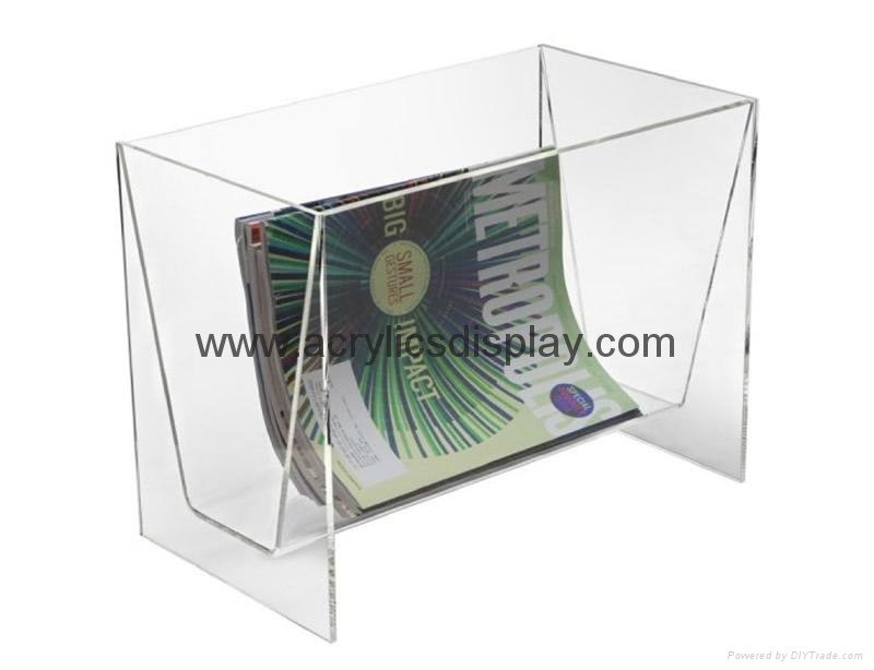 Acrylic perspex magazine holder