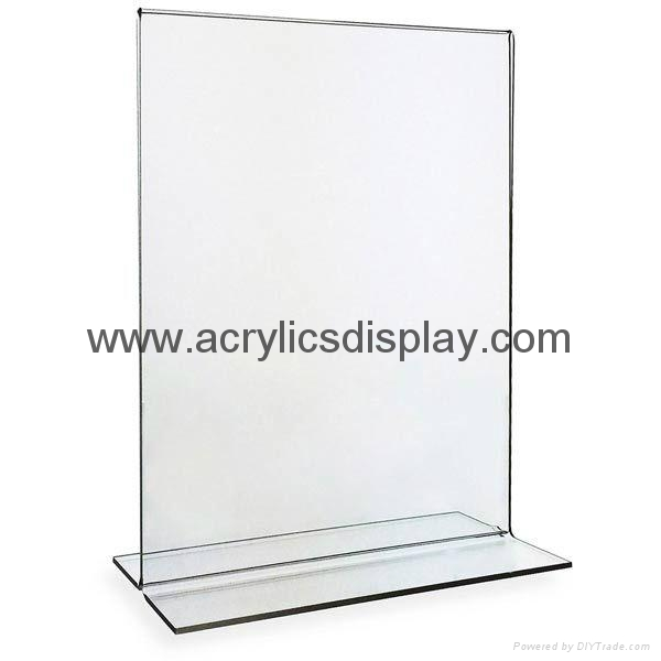 acrylic perspex menu stand