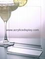 acrylic menu holder perspex menu stand