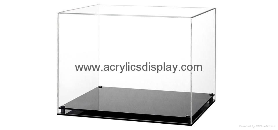 Half scale mini helmet acrylic display case