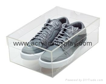 acrylic shoes case box