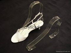 acrylic shoe display easel holder