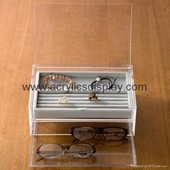 lucite acrylic eyeglasses display
