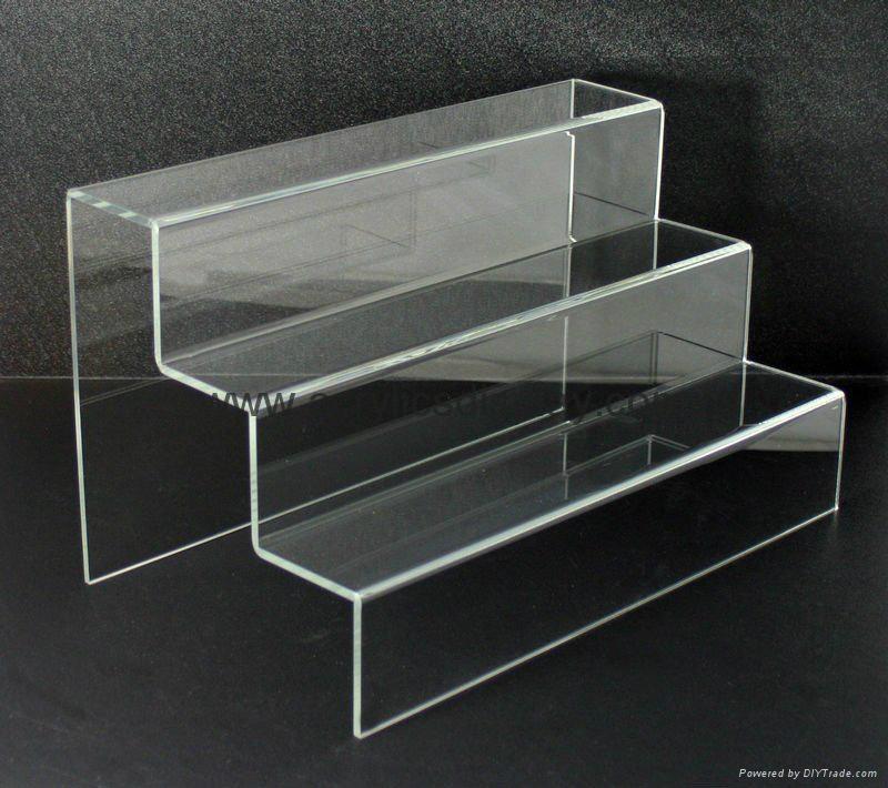 perspex display step risers