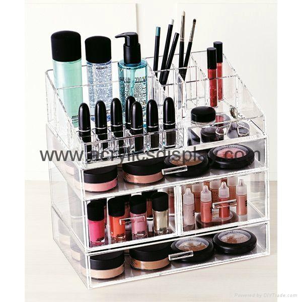 clear acrylic makeup organizer