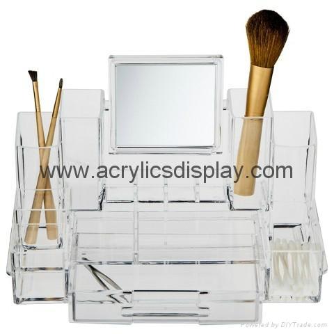 perspex organizer with mirror