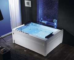 2 person massage spa bath with touch screen panel steam bathtub whirlpol