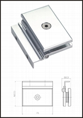 Aluminium Glass door hinge
