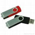 Swivel usb flash drive with usb logo