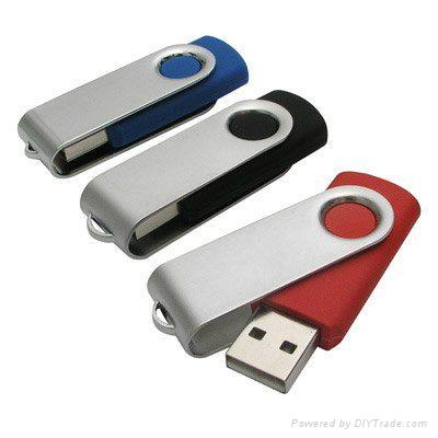 Swivel usb flash drive with usb logo 2