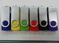 Swivel usb flash drive with usb logo 3