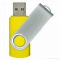 Swivel usb flash drive with usb logo 4