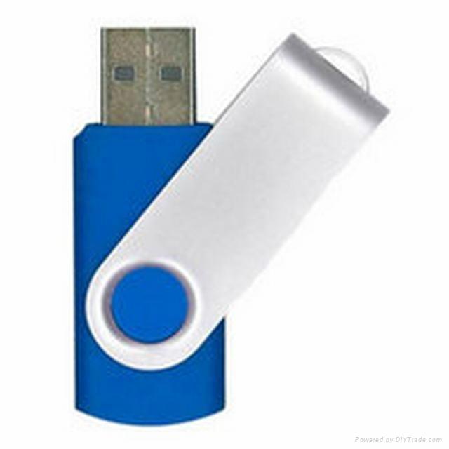Swivel usb flash drive with usb logo 5