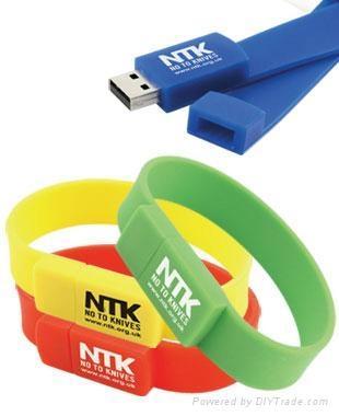 silicone bracelet usb flash drive gift usb 2