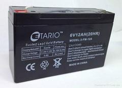 6V12AH玩具车蓄电池