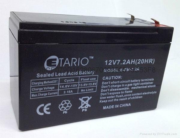 福建蓄電池12v7.2ah 7