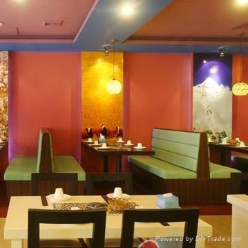 咖啡廳餐廳卡座沙發 1