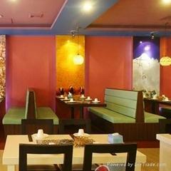 咖啡厅餐厅卡座沙发