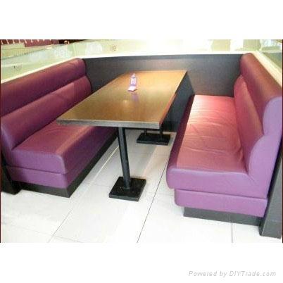 咖啡厅餐厅卡座沙发 2