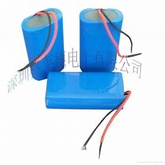 3.7V 18650 2100mAh Rechargeable Li-ion Battery 7.4V