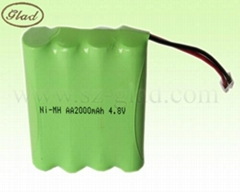 AA/AAA 500~2500mAh rechargeable ni-mh battery 4.8v