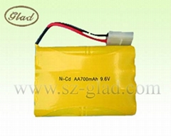 AA 1.2v ni-cd rechargeable emergency light batteries 700mAh
