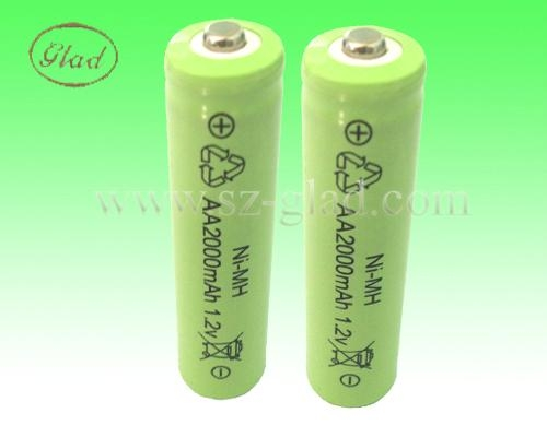 Size AA 3.6V  nimh rechargeable battery packs 1200mAh 2