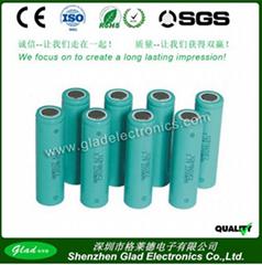 1100~2800mAh li-ion battery 3.7v cell 18650 2200mah