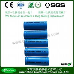 1100~2800mAh li-ion battery 3.7v cell