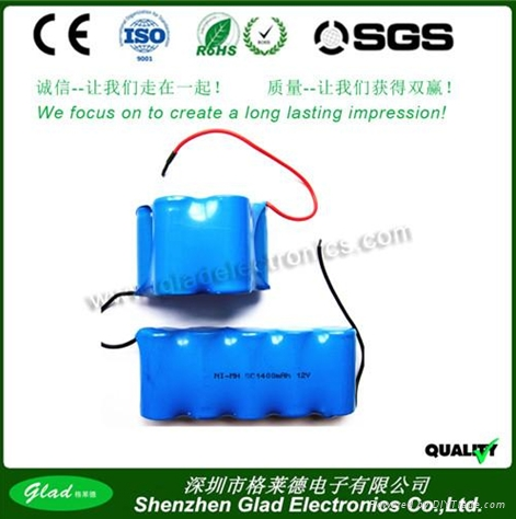 Size AA 3.6V  nimh rechargeable battery packs 1200mAh 3