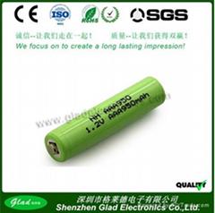 Size AA 3.6V  nimh rechargeable battery packs 1200mAh