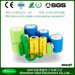 1.2V AA/AAA 250~ 1000mAh Ni-Cd rechargeable battery