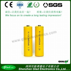 1.2V AA/AAA 250~ 1000mAh Ni-Cd rechargeable battery
