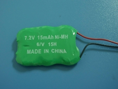 ni-mh button cell battery 3.6V 80mA