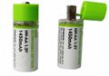 usb rechargeable AA battery 1500mAh