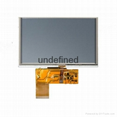 5-inch 800x480p Customized LCD Panels with Resistive Touch Panel